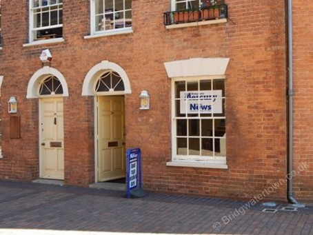 The Bridgwater Mercuy's former offices in Angel Crescent