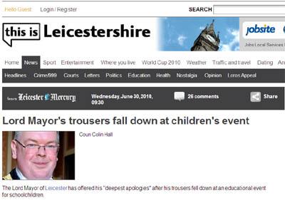 Lord Mayor Strousers Falldown