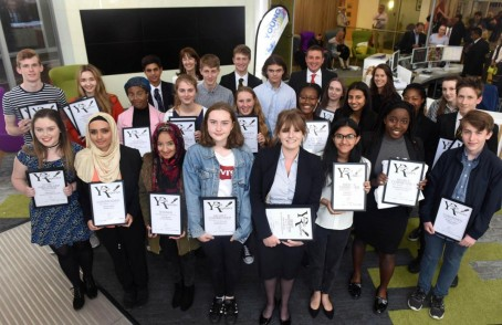 Participants in the 2017 Newsquest South London young reporter scheme
