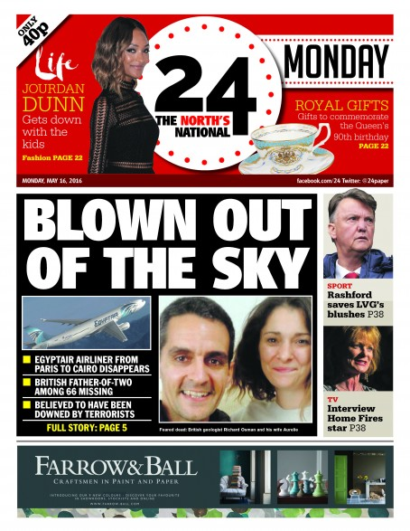A dummy front cover of the CN Group's new newspaper 24