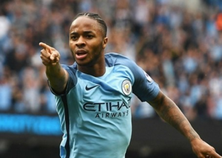 Pointing the finger: Manchester City star Raheem Sterling