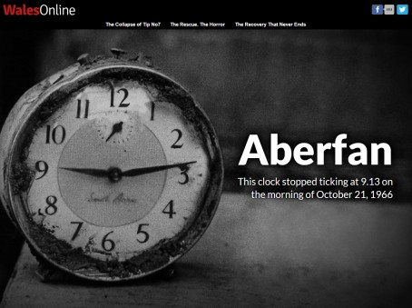 A screenshot of Wales Online's dedicated Aberfan disaster anniversary channel