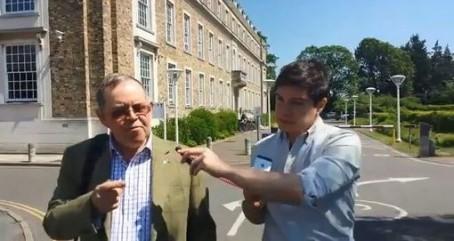 Reporter Josh Thomas confronts Donald Adey
