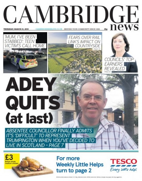 Adey quits