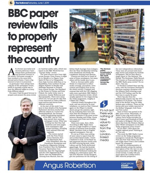 Angus Robertson column