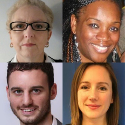 Pictured clockwise from top left: Lindsay Jones, Lorraine King, Nina Morgan, Nick Gill