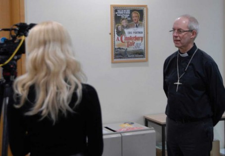 The Archbishop of Canterbury takes questions from students