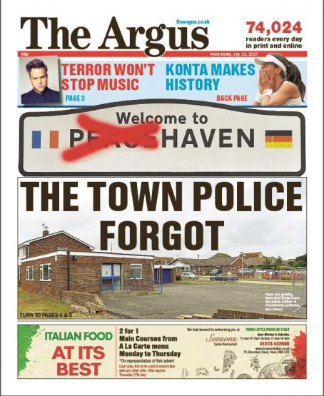 How The Argus initially covered the issue
