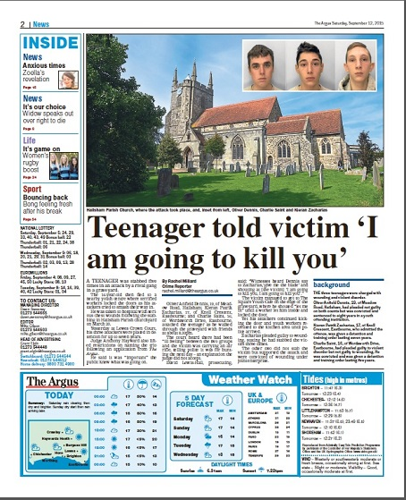 The Argus' coverage of the story.