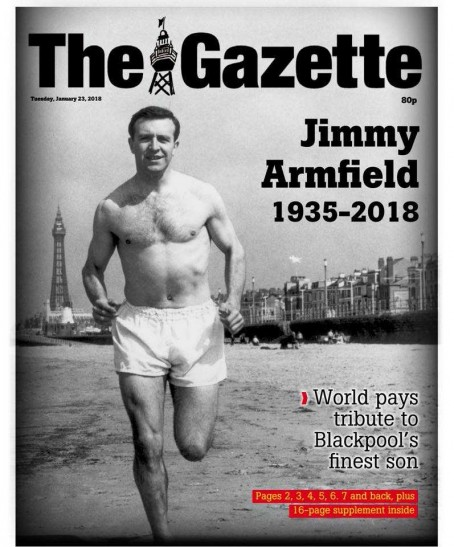 The front page of yesterday's Gazette