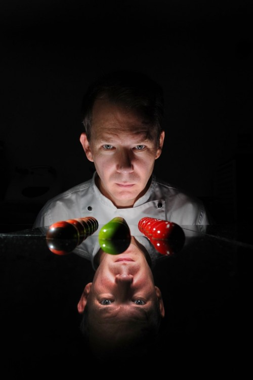 A photo of chocolatier Stephen Trigg - Simon's favourite image from the portfolio he submitted