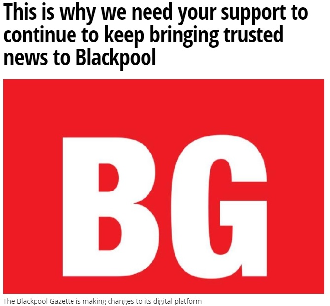 Blackpool Gazette and Portsmouth News launch paywall trial