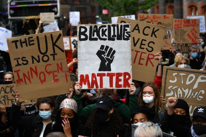 A BLM protest was held in Reading on 5 June last year