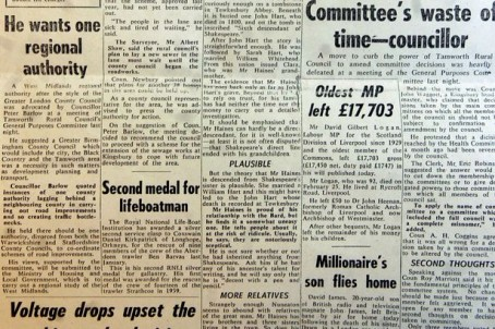 The now-defunct Nuneaton Evening Tribune in the days when Norman Peckett was its MD