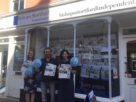From left: Bishop's Stortford Independent reporter Cat Barkley, editor Paul Winspear and news editor Sinead Corr