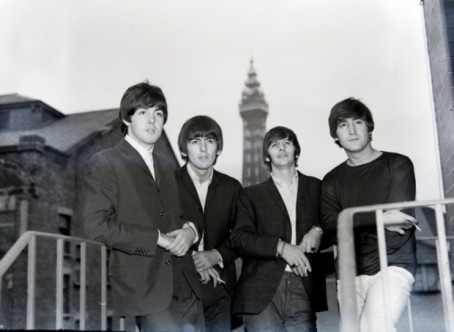 The Beatles at Blackpool Opera House in August 1964 - one of the images used by Jon to create the film