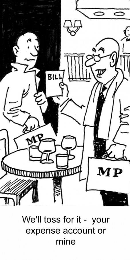 An example of Bert's work from the MPs' expenses scandal