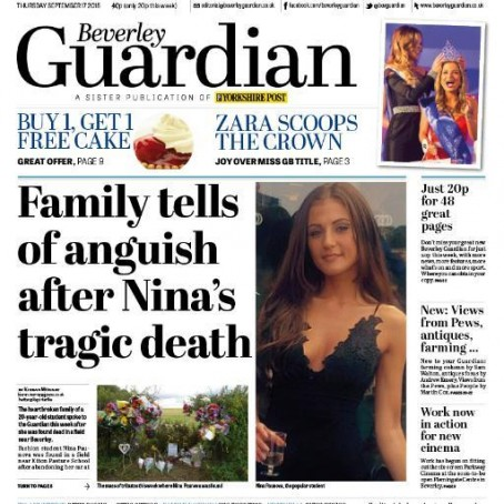 The Beverley Guardian, one of two newspapers set to close next month