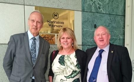 CAPTION: Birmingham Press Club chairman Llewela Bailey together with fellow-director Adrian Kibbler, right, and Dr Martyn Bond from the London Press Club