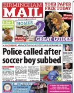 The first part-free Friday edition, right, featuring the Birmingham Mail's new design - and left, the orginal layout