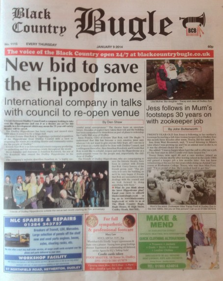 Black Country Bugle page one