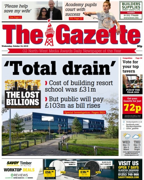 How Blackpool daily The Gazette covered the investigation