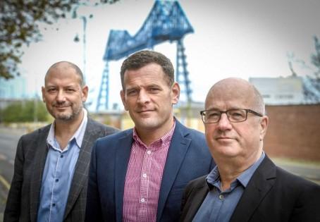 From left: Dave Allan, Martin Walker and Bob Cuffe
