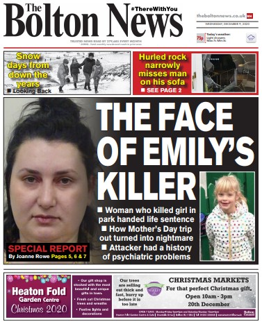 How the Bolton News covered Skana's sentencing