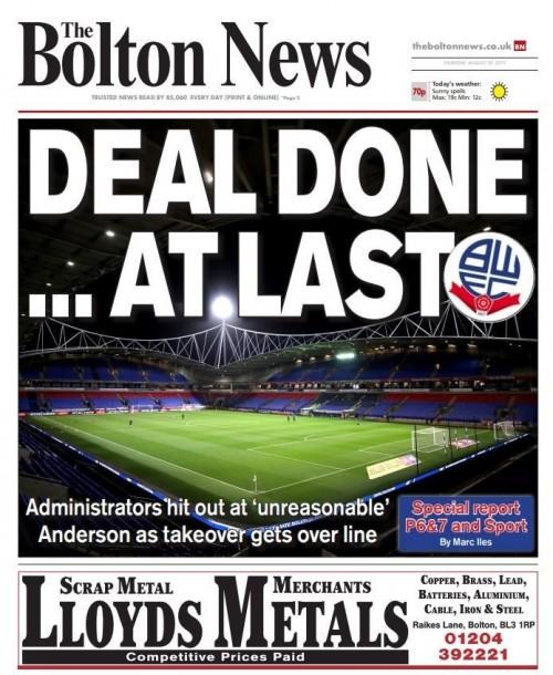 Bolton deal