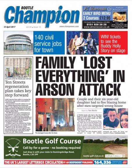 Paul Moran complained to IPSO about the Bootle Champion's front page story