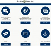 The new-look homepage of the Brechin Advertiser