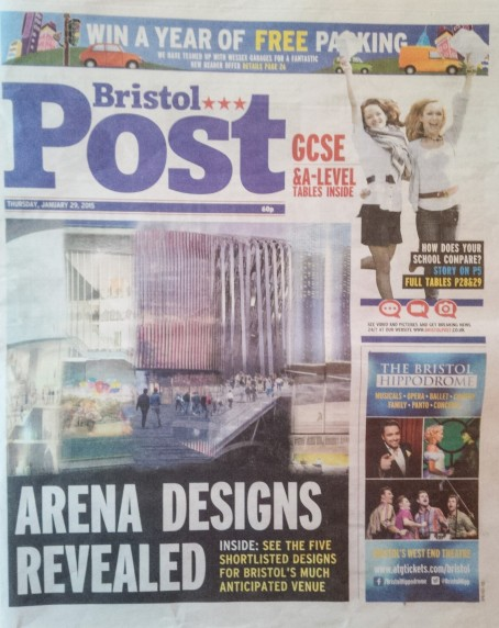 Bristol Post page one
