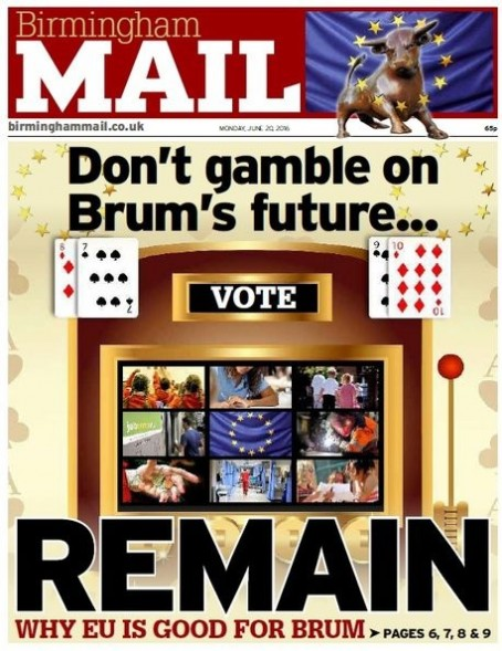The Mail backed Remain ahead of the 2016 vote
