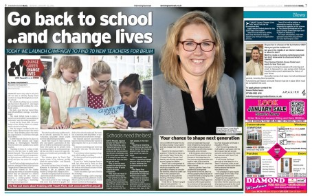 A double-page spread on the campain which appeared in yesterday's Birmingham Mail