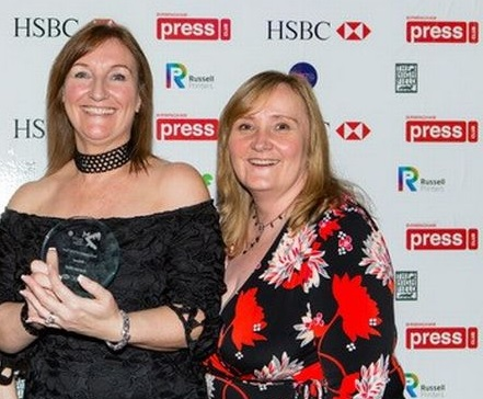 Former Burton Mail editor Emma Turton, left, and new editor Julie Crouch