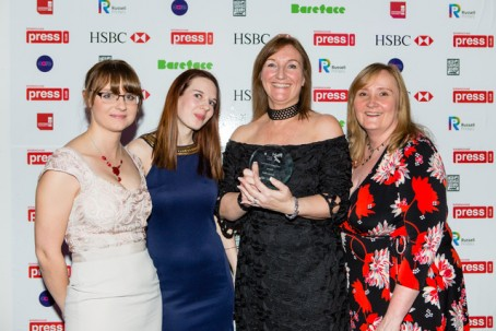 From left: Burton Mail senior reporter Helen Kreft, senior reporter Rhea Turner, editor Emma Turton and deputy editor Julie Crouch