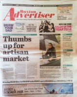 Buxton Advertiser page 1