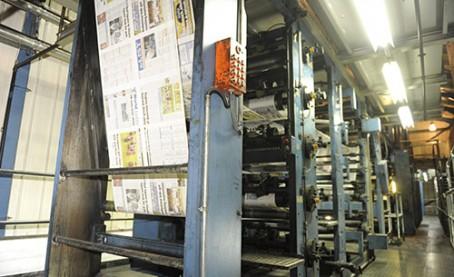 The CN Group's printing press, in Carlisle