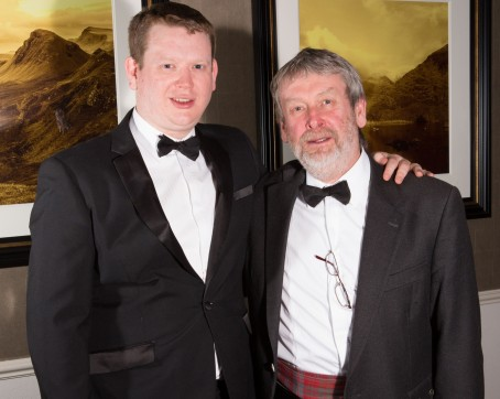 Calum, left, and David Ross at the awards ceremony