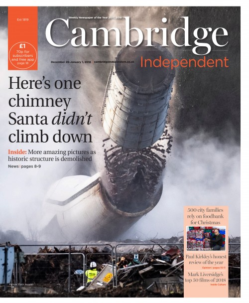 Cambridge Independent - Heres one chimney Santa didnt climb down