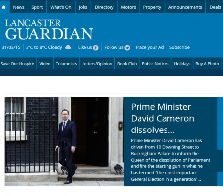 Funnies file: Water way for Cameron to start campaign