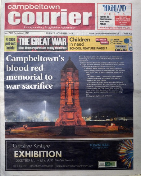 Campbeltown Courier Friday 9 November 2018