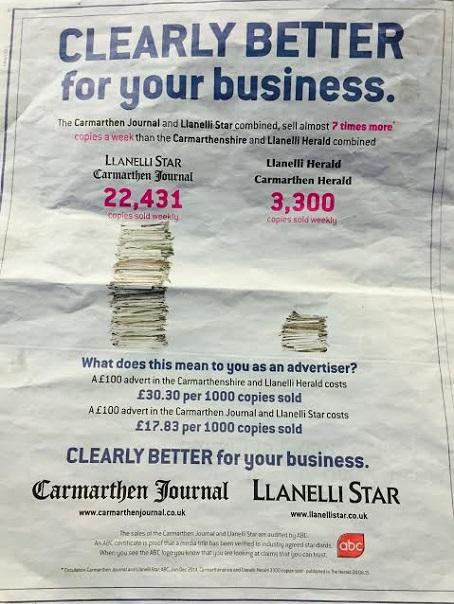 Carmarthen advert