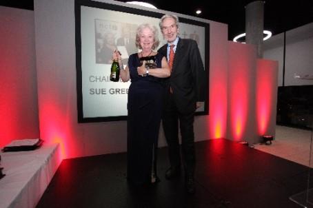 Sue Green with NCTJ chairman Kim Fletcher