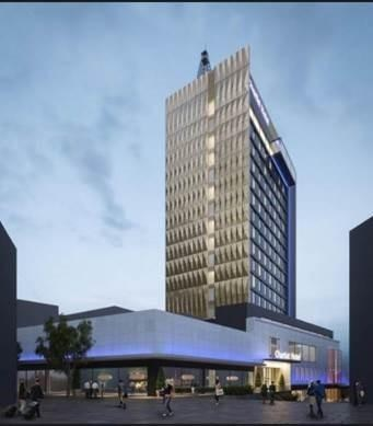 An artist's impression of the Chartist Tower development
