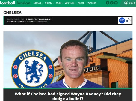 The Chelsea homepage of Football.London