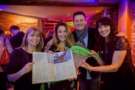 From left: Leigh Adams, designer Jo Euston-Moore, Tony Hadley and Sue Archer