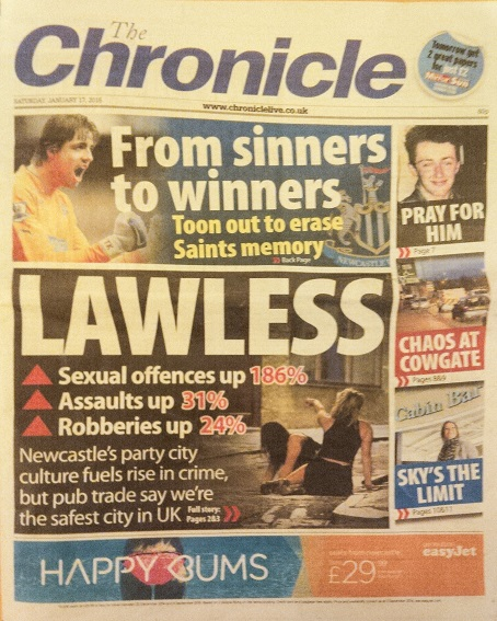 Chronicle front from 17 January 2015