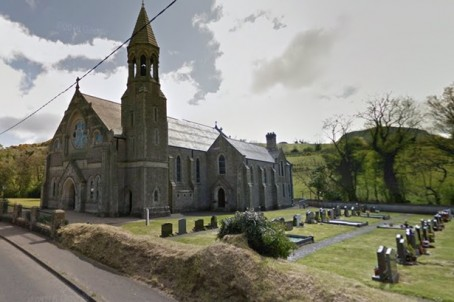 St Mary's Church, in Cushendall, Northern Ireland, where the funeral was held