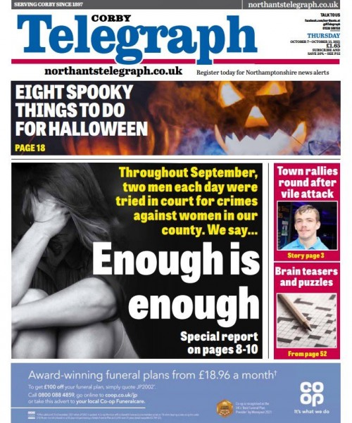 The Telegraph and the Express splashed on the investigation